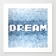 Dream watercolor mosaic typography Canvas Print