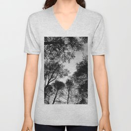 Forest View b/w Unisex V-Neck