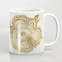 tree rings Mugs featuring Tree Rings by Emmy Winstead