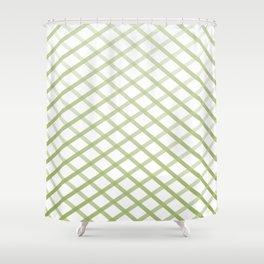 Forrest Cross Stitch Shower Curtain
