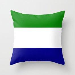 Flag of Sierra Leone Throw Pillow