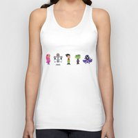 teen titans Tank Tops featuring Teen Titans Go by Adrian Mentus