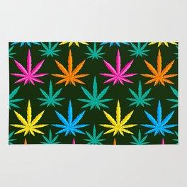 Colorful Marijuana weed Rug