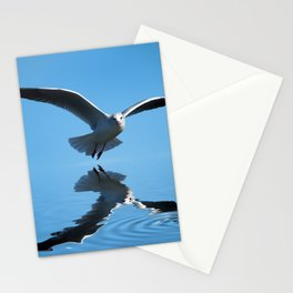Seagull on blue sky Stationery Cards