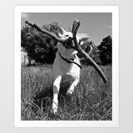 Charging Dog (2013) Art Print