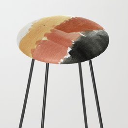 Abstract in Rust n Clay Counter Stool