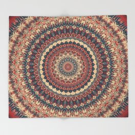 Mandala 595 Throw Blanket