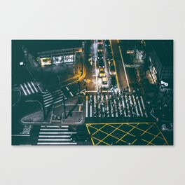 Night walking street 4 Canvas Print