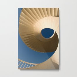 bottom view at twisted stairs Metal Print