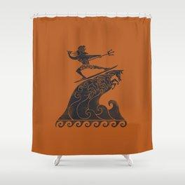 Broseidon Shower Curtain