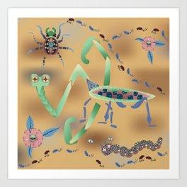 Call of the Mantis Art Print