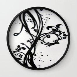 Swirl Leaves - Drawing Wall Clock
