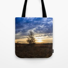 Sunrise at the fields Tote Bag