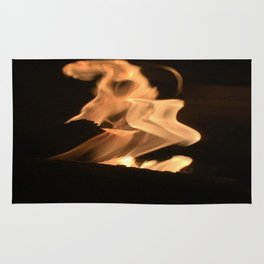 flames wrath Rug