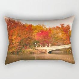 New York City Autumn Magic in Central Park Rectangular Pillow