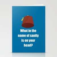 fez Stationery Cards featuring Fez by Grace Thanda