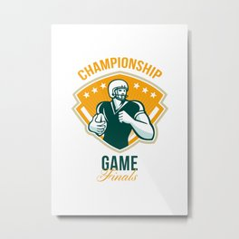 American Football Championship Game Finals Crest Metal Print