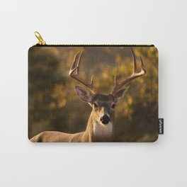 White Tailed Deer In Field Carry-All Pouch