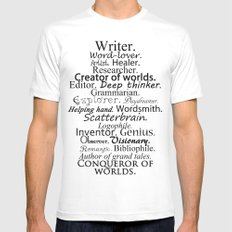 Writer MEDIUM White Mens Fitted Tee
