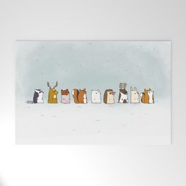 Winter forest animals Welcome Mat