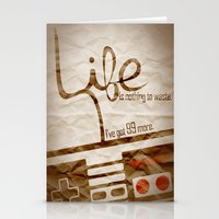 nintendo Stationery Cards featuring Life - Nintendo by Donkey Inferno