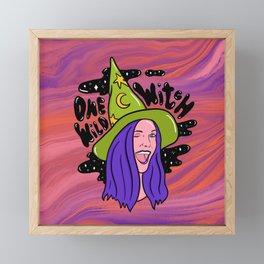 One Wild Witch Framed Mini Art Print