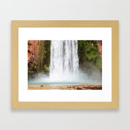 Mooney Falls, Havasupai, Arizona Framed Art Print
