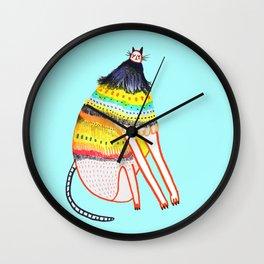 cat by Ashley Percival. Wall Clock