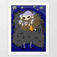 dark souls Art Prints featuring Dark Souls- Goodnight Nito by Mango Mamacita