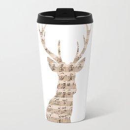 Music Deer Head Travel Mug