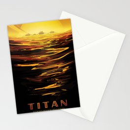 NASA Retro Space Travel Poster #12 - Titan Stationery Cards