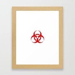 International Biological Hazard Symbol Red Framed Art Print