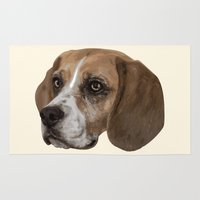 beagle Area & Throw Rugs featuring Beagle by Goncalo