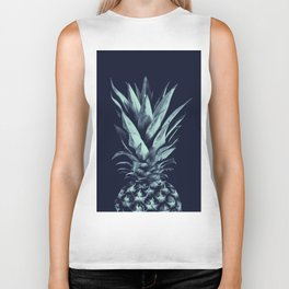 Navy Blue Pineapple Dream #1 #tropical #fruit #decor #art #society6 Biker Tank