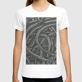 'Junction' Abstract Acrylic on Canvas T-shirt