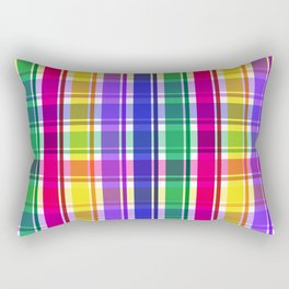 Party Plaid Daddy Ohs! Rectangular Pillow