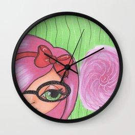 Miss. Candyfloss Wall Clock
