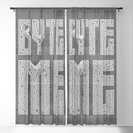 Byte Me Sheer Curtain