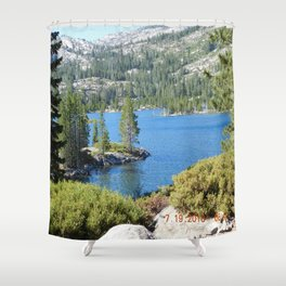 Inlet, lake, water, nature, road trip Shower Curtain