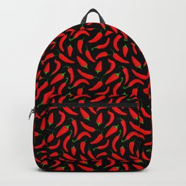 Red Chilli Peppers Pattern Backpack