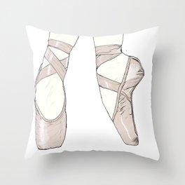 Ballet Pumps Throw Pillow