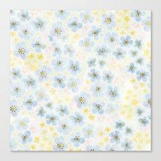 Blue Fields. Fictional Flowers. Canvas Print