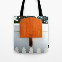 popsicle Tote Bags featuring Popsicle  by Photaugraffiti