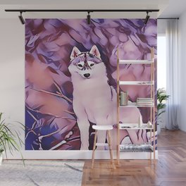 Arctic Wolf at Sunrise Wall Mural