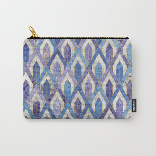 Art Deco Marble Pattern III. Carry-All Pouch