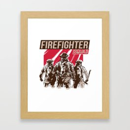 Firefighter Squad Framed Art Print