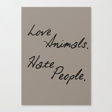 Love Animals Canvas Print