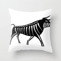 XRAY Bull Throw Pillow