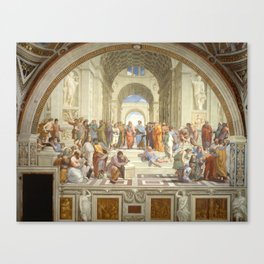 Raphael - The School of Athens Canvas Print