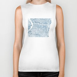 Philadelphia City Map Biker Tank